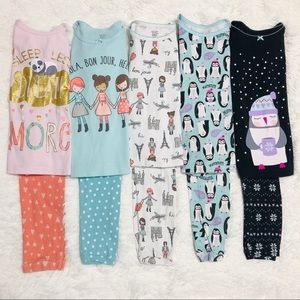 Lot of 5 Just One You by Carter's Pajama Sets